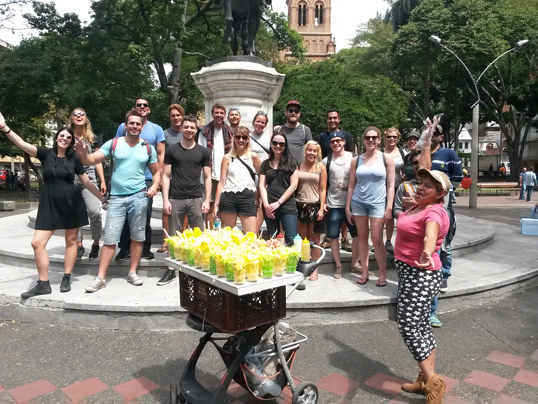 bolivar square real city tours medellin