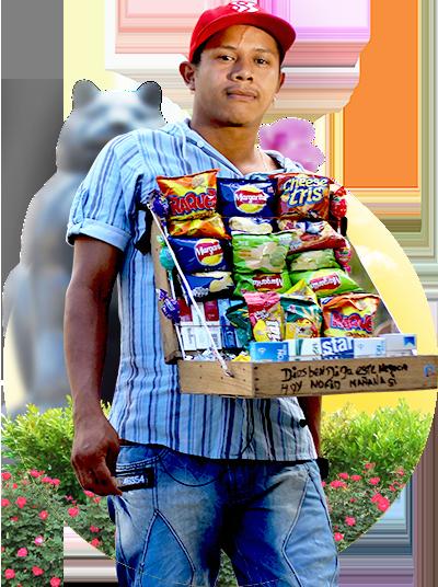 Snack seller - Real City Tours Medellin