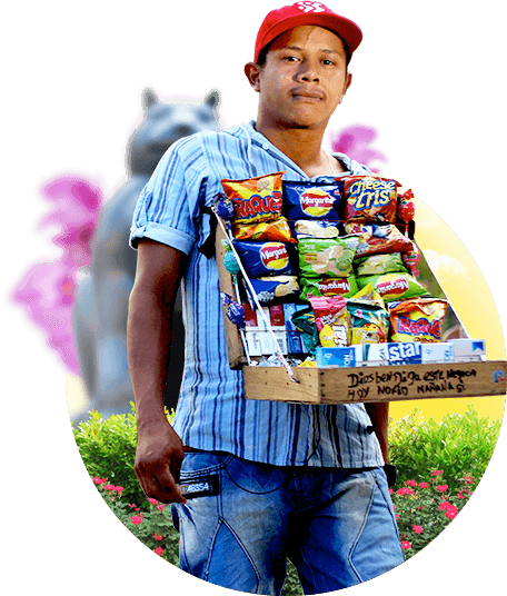 snacks vendor real city tours medellin