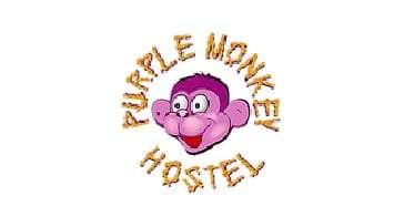 Purple monkey hostel Logo - Real City Tours Medellin