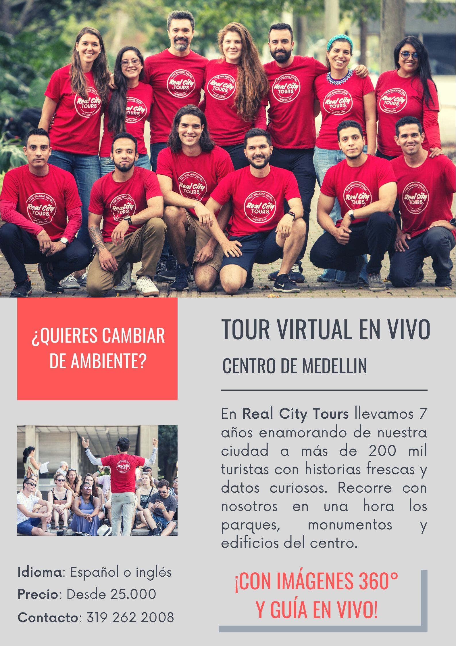 Tour virtual Medellín Real City Tours Medellin